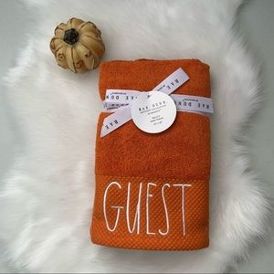 Rae Dunn GUEST Hand Towels - Set of 2 NEW